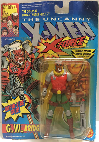 (TAS032385) - 1992 Toy Biz Marvel X-Men X-Force - G.W. Bridge, , Action Figure, Marvel, The Angry Spider Vintage Toys & Collectibles Store  - 1