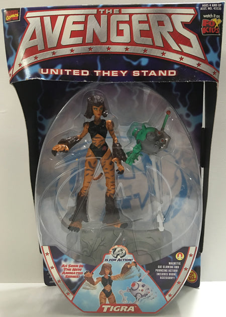 (TAS032386) - 1999 Toy Biz The Avengers United They Stand - Tigra, , Action Figure, Toy Biz, The Angry Spider Vintage Toys & Collectibles Store  - 1