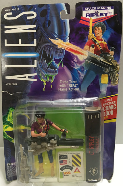 (TAS032394) - 1992 Kenner Aliens Action Figure - Space Marine Lt. Ripley, , Action Figure, Kenner, The Angry Spider Vintage Toys & Collectibles Store  - 1