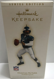 (TAS032405) - Hallmark Keepsake NFL Christmas Ornament - Donovan McNabb #5, , Ornament, NFL, The Angry Spider Vintage Toys & Collectibles Store  - 1