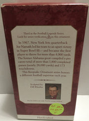 (TAS032409) - Hallmark Keepsake NFL Christmas Ornament - Joe Namath #12, , Ornament, NFL, The Angry Spider Vintage Toys & Collectibles Store  - 2