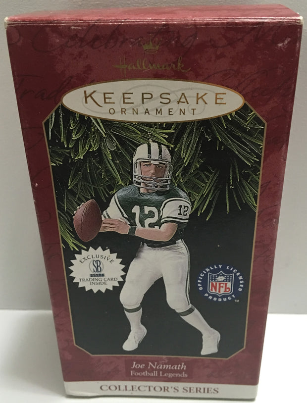 (TAS032409) - Hallmark Keepsake NFL Christmas Ornament - Joe Namath #12, , Ornament, NFL, The Angry Spider Vintage Toys & Collectibles Store  - 1