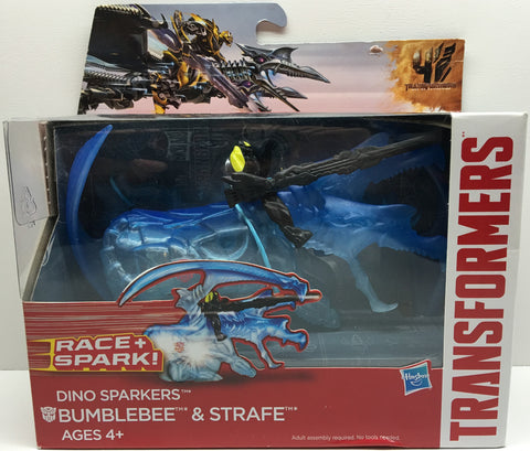(TAS032414) - 2014 Hasbro Transformers Race and Spark Figure- Bumblebee & Strafe, , Action Figure, Transformers, The Angry Spider Vintage Toys & Collectibles Store  - 1