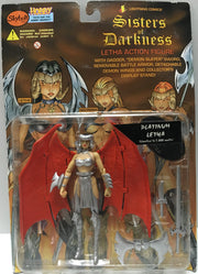 (TAS032441) - 1998 Lightning Comics Sisters of Darkness Letha - Platinum Letha, , Action Figure, n/a, The Angry Spider Vintage Toys & Collectibles Store  - 1