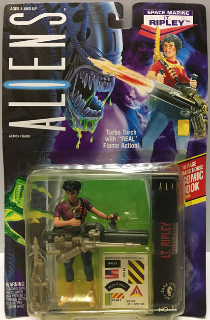 (TAS032446) - 1992 Kenner Aliens Action Figure - Space Marine Lt. Ripley, , Action Figure, Kenner, The Angry Spider Vintage Toys & Collectibles Store  - 1