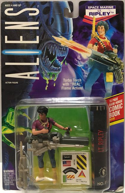 (TAS032450) - 1992 Kenner Aliens Action Figure - Space Marine Lt. Ripley, , Action Figure, Kenner, The Angry Spider Vintage Toys & Collectibles Store  - 1