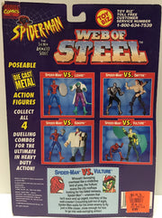 (TAS032456) - 1994 Marvel Spider-Man Web of Steel Figures - Spider-Man & Vulture, , Action Figure, Spiderman, The Angry Spider Vintage Toys & Collectibles Store  - 2
