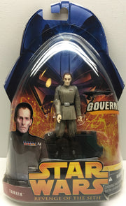 (TAS032466) - 2005 Hasbro Star Wars Revenge of the Sith Figure - Tarkin, , Action Figure, Star Wars, The Angry Spider Vintage Toys & Collectibles Store  - 1