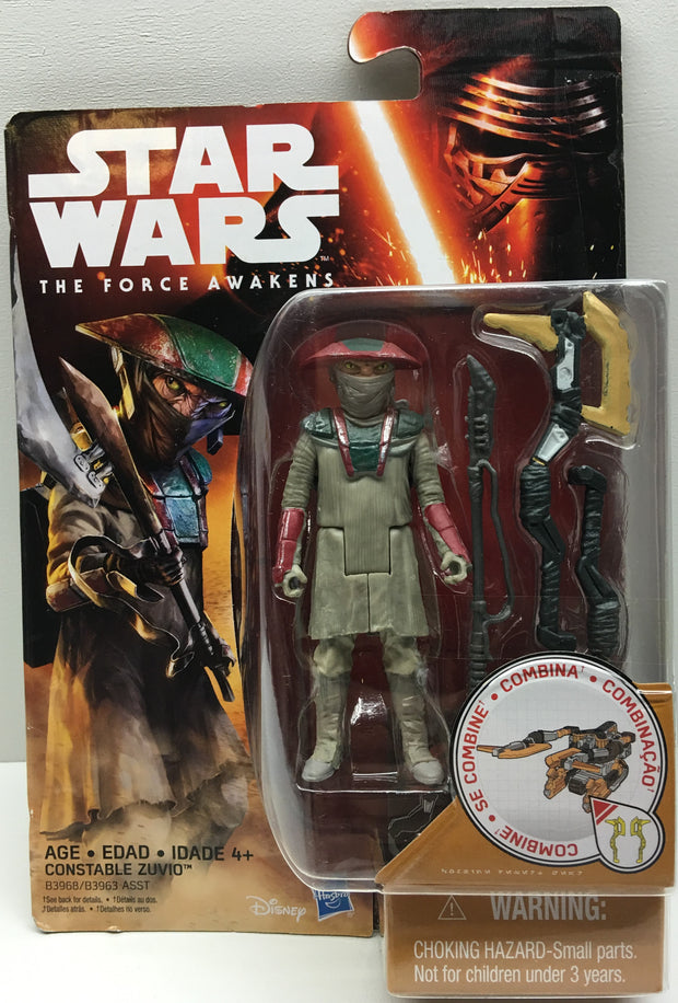 (TAS032479) - 2015 Hasbro Star Wars The Force Awakens Figure - Constable Zuvio, , Action Figure, Star Wars, The Angry Spider Vintage Toys & Collectibles Store  - 1