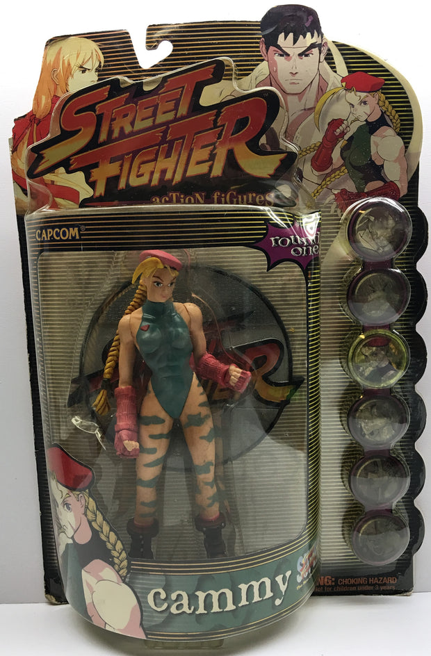 "(TAS032509) - 1999 Camcom Street Fighter Action Figures ""Round One"" - Cammy, , Action Figure, Street Fighter, The Angry Spider Vintage Toys & Collectibles Store  - 1"