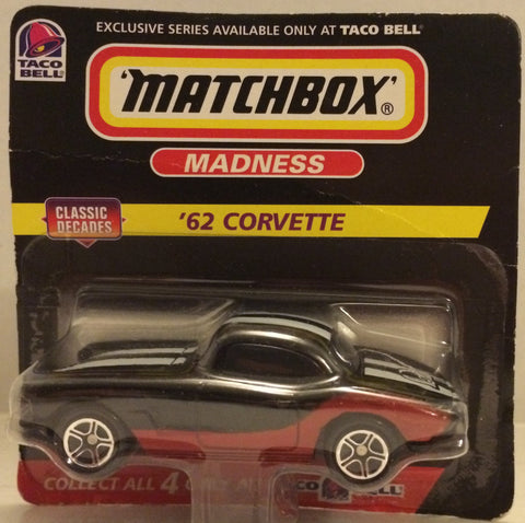 (TAS032530) - Matchbox Taco Bell Die-Cast Madness Car - '62 Corvette, , Trucks & Cars, Matchbox, The Angry Spider Vintage Toys & Collectibles Store