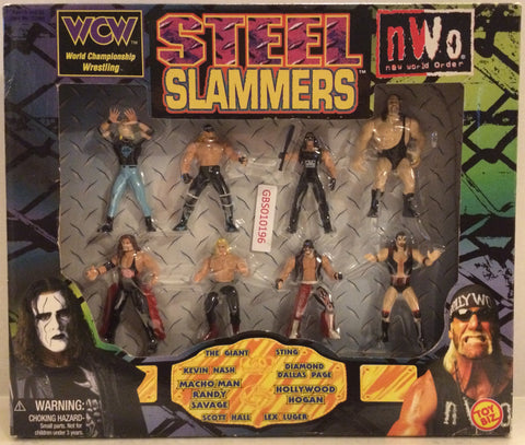 (TAS032538) - Toy Biz WCW Wrestling Steel Slammers Box Set - Sting & Hogan, , Action Figure, Wrestling, The Angry Spider Vintage Toys & Collectibles Store