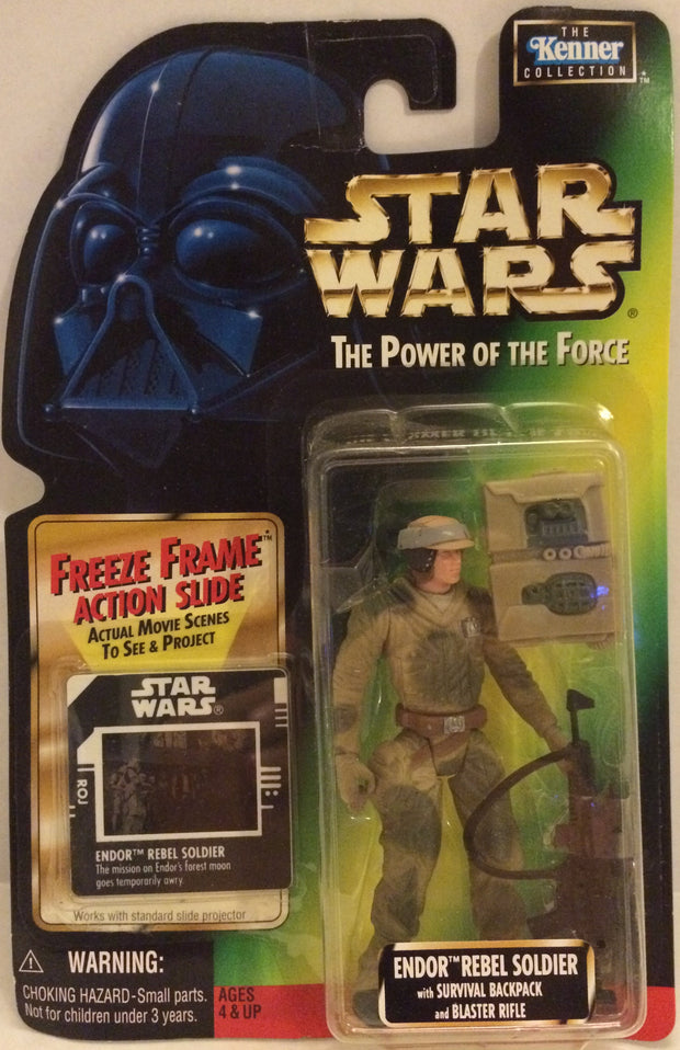 (TAS032542) - Kenner Star Wars The Power Of The Force - Endor Rebel Soldier, , Action Figure, Wrestling, The Angry Spider Vintage Toys & Collectibles Store