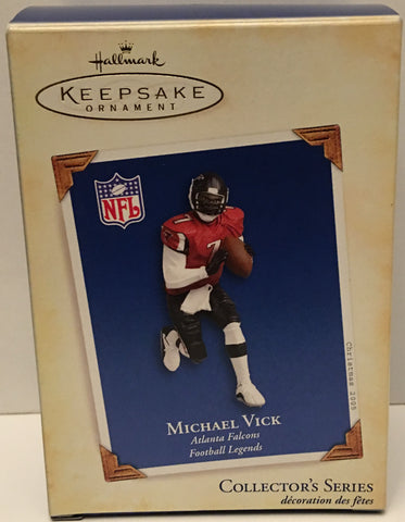 (TAS032567) - Hallmark Keepsake Christmas Ornament - NFL Michael Vick #7, , Ornament, Hallmark, The Angry Spider Vintage Toys & Collectibles Store  - 1
