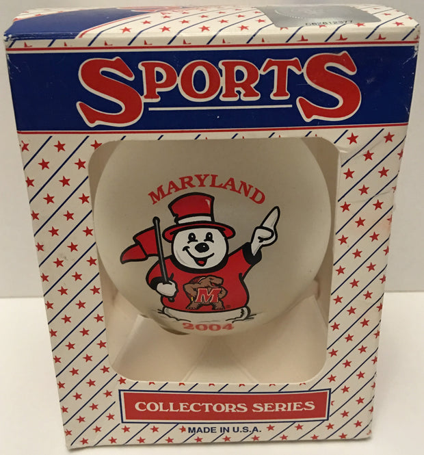 (TAS032571) - 2004 NCAA Sports Christmas Ornament - Maryland, , Ornament, NCAA, The Angry Spider Vintage Toys & Collectibles Store  - 1