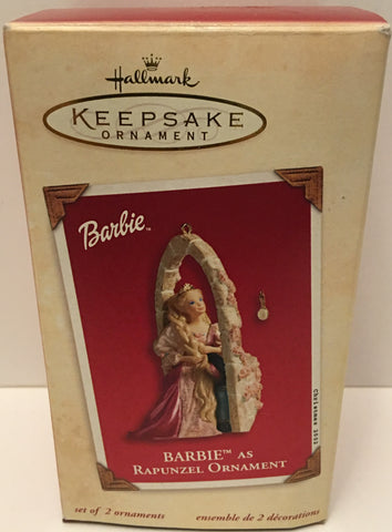(TAS032583) - 2002 Hallmark Keepsake Christmas Ornament - Barbie as Rapunzel, , Ornament, Hallmark, The Angry Spider Vintage Toys & Collectibles Store  - 1