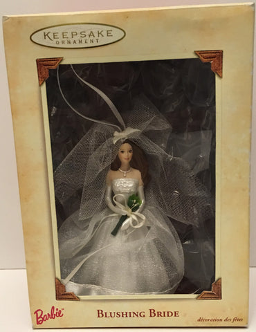 (TAS032585) - 2002 Hallmark Keepsake Christmas Ornament - Barbie Blushing Bride, , Ornament, Hallmark, The Angry Spider Vintage Toys & Collectibles Store  - 1