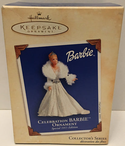 (TAS032587) - 2003 Hallmark Keepsake Christmas Ornament - Celebration Barbie, , Ornament, Hallmark, The Angry Spider Vintage Toys & Collectibles Store  - 1