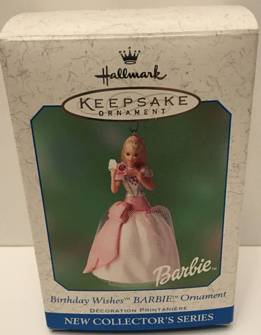 (TAS032590) - 2001 Hallmark Keepsake Christmas Ornament - Birthday Wishes Barbie, , Ornament, Hallmark, The Angry Spider Vintage Toys & Collectibles Store  - 1