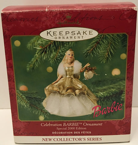 (TAS032592) - 2000 Hallmark Keepsake Christmas Ornament - Celebration Barbie, , Ornament, Hallmark, The Angry Spider Vintage Toys & Collectibles Store  - 1