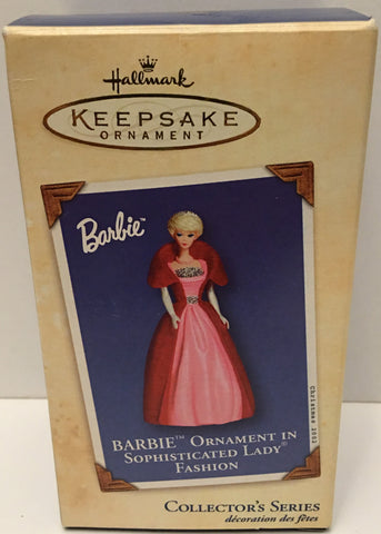 (TAS032595) - 2002 Hallmark Keepsake Ornament - Sophisticated Lady Barbie, , Ornament, Hallmark, The Angry Spider Vintage Toys & Collectibles Store  - 1