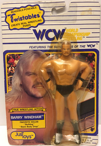 (TAS032598) - 1990 Just Toys WCW Wrestling Twistables Figure - Barry Windham, , Action Figure, Wrestling, The Angry Spider Vintage Toys & Collectibles Store  - 1