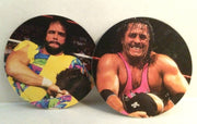 (TAS032601) - WWF WWE Wrestling POGS - Bret Hart & Savage, , Game, Wrestling, The Angry Spider Vintage Toys & Collectibles Store