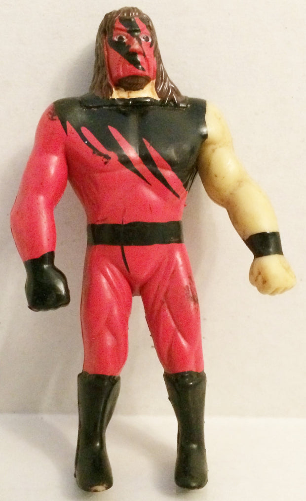 (TAS032628) - WWF WWE Wrestling Mini Bendie Figure - Kane, , Action Figure, Wrestling, The Angry Spider Vintage Toys & Collectibles Store