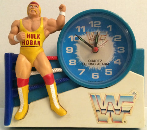 (TAS032640) - Titan Sports WWF WWE LJN Wrestling Superstars Clock - Hulk Hogan, , Clocks, Wrestling, The Angry Spider Vintage Toys & Collectibles Store