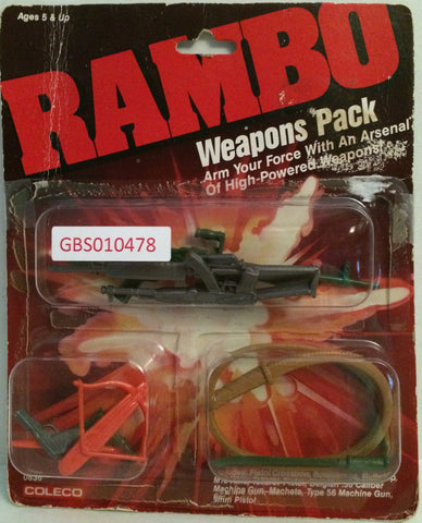 (TAS032645) - Coleco Rambo Weapons Pack - Pistol Crossbow Machete, , Action Figure, Rambo, The Angry Spider Vintage Toys & Collectibles Store
