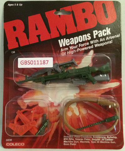 (TAS032646) - Coleco Rambo Weapons Pack - Pistol Crossbow Machete, , Action Figure, Rambo, The Angry Spider Vintage Toys & Collectibles Store