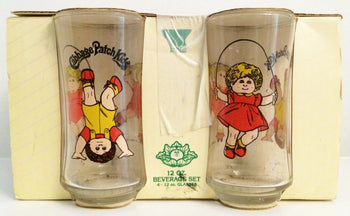 (TAS032650) - Cabbage Patch Kids - 12 oz Beverage Set - 4 Glasses, , Drinkware, Cabbage Patch Kids, The Angry Spider Vintage Toys & Collectibles Store