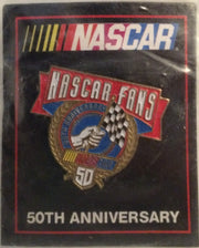 (TAS032654) - Nascar Racing Collectors Lapel Pin - 50th Anniversary, , Pins, NASCAR, The Angry Spider Vintage Toys & Collectibles Store