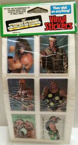 (TAS032662) - Titan Sports WWF WWE Wrestling Superstars Vinyl Stickers - Warrior, , Stickers, Wrestling, The Angry Spider Vintage Toys & Collectibles Store