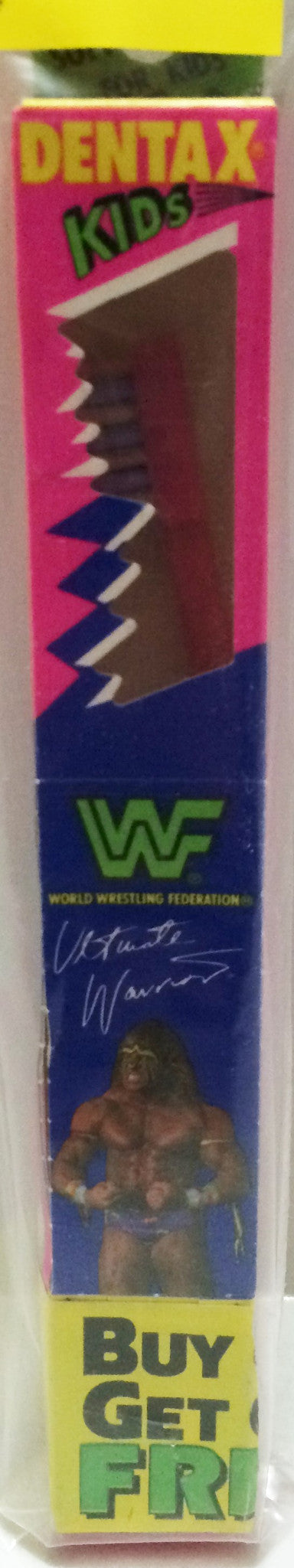 (TAS032669) - Dentax WWF WWE Wrestling Toothbrush - Ultimate Warrior, , Bath, Wrestling, The Angry Spider Vintage Toys & Collectibles Store