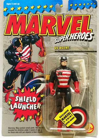 (TAS032686) - Toy Biz Marvel SuperHeroes Figure - US Agent With Shield Launcher, , Action Figure, Marvel, The Angry Spider Vintage Toys & Collectibles Store