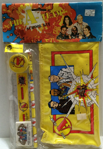 (TAS032687) - The A-Team School Kit - Pencil Eraser Sharpener Pouch, , Study Kit, The A-Team, The Angry Spider Vintage Toys & Collectibles Store