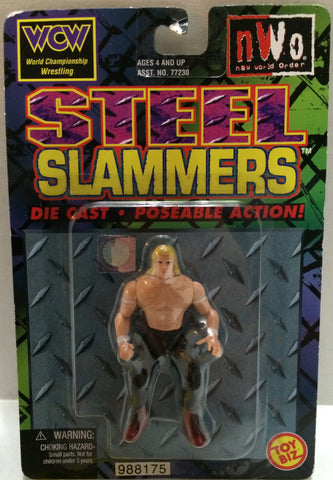 (TAS032689) - Toy Biz WCW nWo Steel Slammers Die-Cast Figure - Lex Lugar, , Action Figure, Wrestling, The Angry Spider Vintage Toys & Collectibles Store
