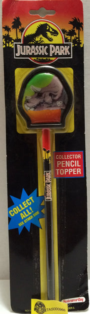 (TAS032699) - Noteworthy Jurassic Park Collector Pencil Topper, , Pencils, Jurassic Park, The Angry Spider Vintage Toys & Collectibles Store