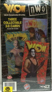(TAS032710) - WCW nWo Wrestling Three Collectible 3-D Cards - Sting, , Trading Cards, Wrestling, The Angry Spider Vintage Toys & Collectibles Store