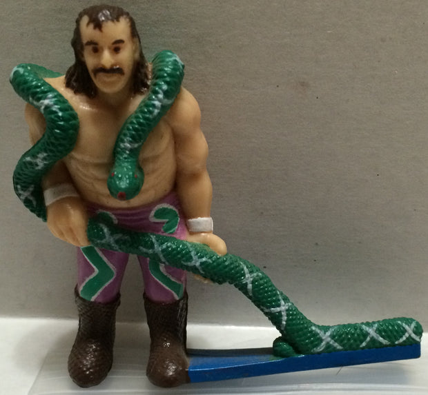 (TAS032722) - WWF WWE Wrestling PVC Hockey Figure - Jake The Snake Roberts, , Action Figure, Wrestling, The Angry Spider Vintage Toys & Collectibles Store
