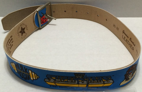 (TAS032735) - 1991 Titan Sports LJN Wrestling Leather Belt- Hulk Hogan & Warrior, , Clothing & Accessories, Wrestling, The Angry Spider Vintage Toys & Collectibles Store