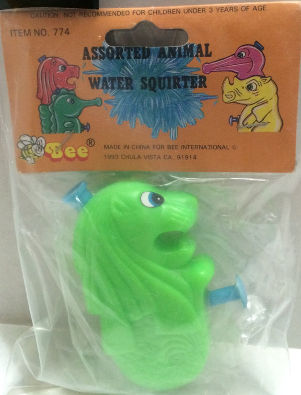 (TAS032736) - Vintage Assorted Animal Water Squirter - Green Lion, , Water Squirter, n/a, The Angry Spider Vintage Toys & Collectibles Store