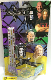 (TAS032756) - WCW Wrestling Pencil Topper Set - Sting Goldberg Nash, , Pencils, Wrestling, The Angry Spider Vintage Toys & Collectibles Store