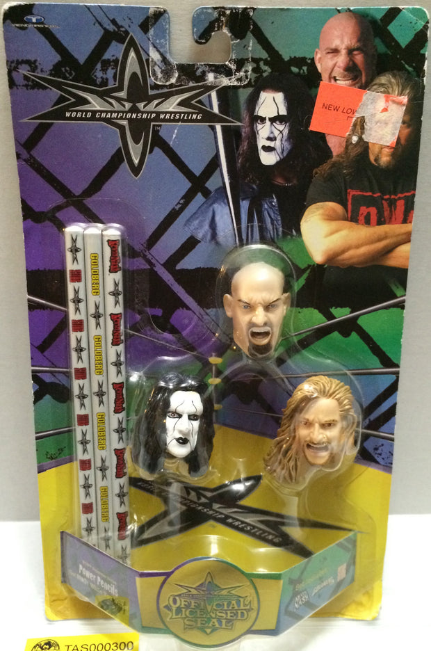 (TAS032757) - WCW Wrestling Pencil Topper Set - Sting Goldberg Nash, , Pencils, Wrestling, The Angry Spider Vintage Toys & Collectibles Store
