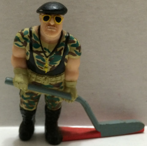 (TAS032760) - WWF WWE Wrestling PVC Hockey Figure - Sgt. Slaughter, , Action Figure, Wrestling, The Angry Spider Vintage Toys & Collectibles Store