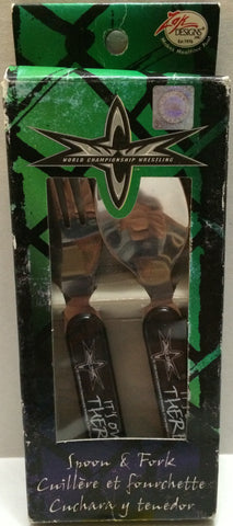 (TAS032761) - WCW Wrestling Spoon & Fork Set, , Kitchen, Wrestling, The Angry Spider Vintage Toys & Collectibles Store