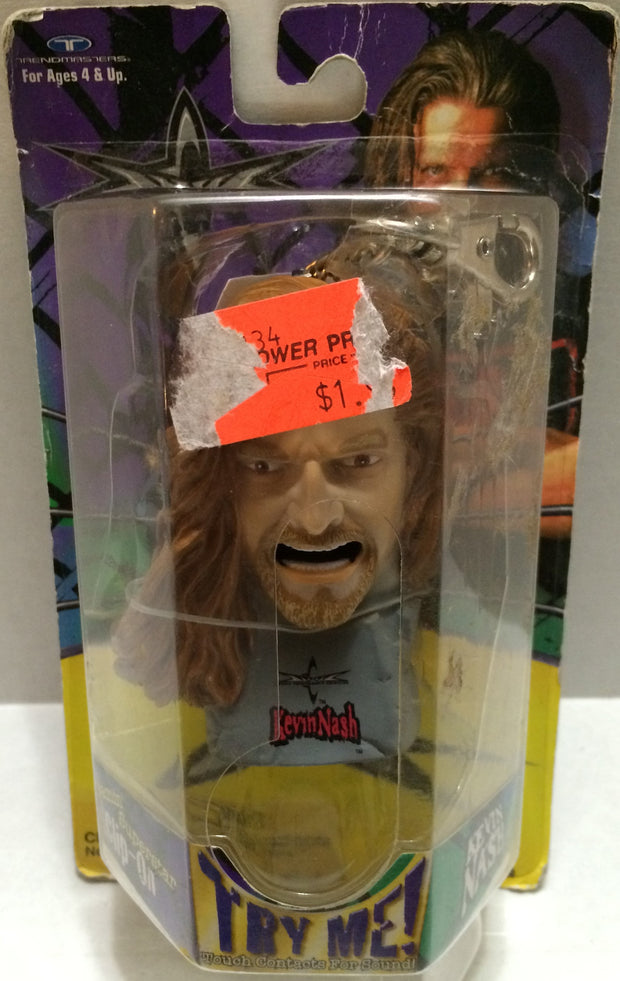 (TAS032769) - WCW Wrestling Talking Keychain - Kevin Nash, , Keychain, Wrestling, The Angry Spider Vintage Toys & Collectibles Store