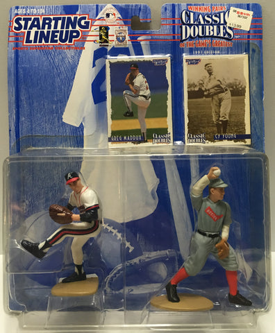(TAS032792) - 1997 Kenner Starting Lineup Classic Doubles - Maddux & Young, , Action Figure, Starting Lineup, The Angry Spider Vintage Toys & Collectibles Store  - 1