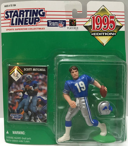 (TAS032794) - 1995 Kenner Starting Lineup NFL Detriot Lions - Scott Mitchell #19, , Action Figure, Starting Lineup, The Angry Spider Vintage Toys & Collectibles Store  - 1